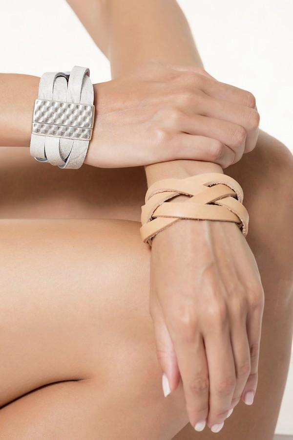 women leather cuff