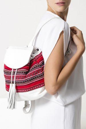 Boho Leather Backpack for Women
