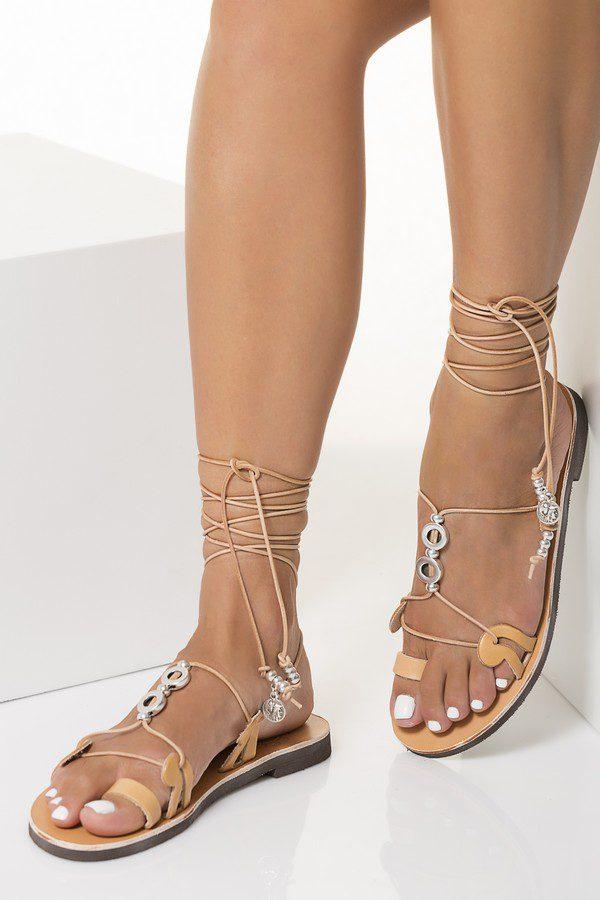 flat ankle wrap sandals