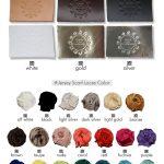 Χρώματα δέρματος και κορδέλας σατέν ζέρσεϊ για σανδάλια Greek Chic Handmades