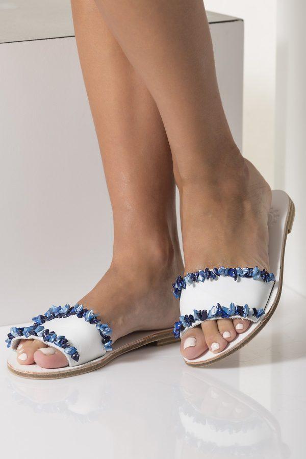 light blue sandals wedding