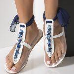 blue bridal sandals