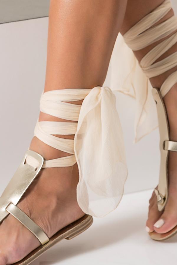 flat gold sandals wedding