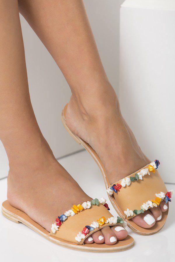 beaded sandals for women