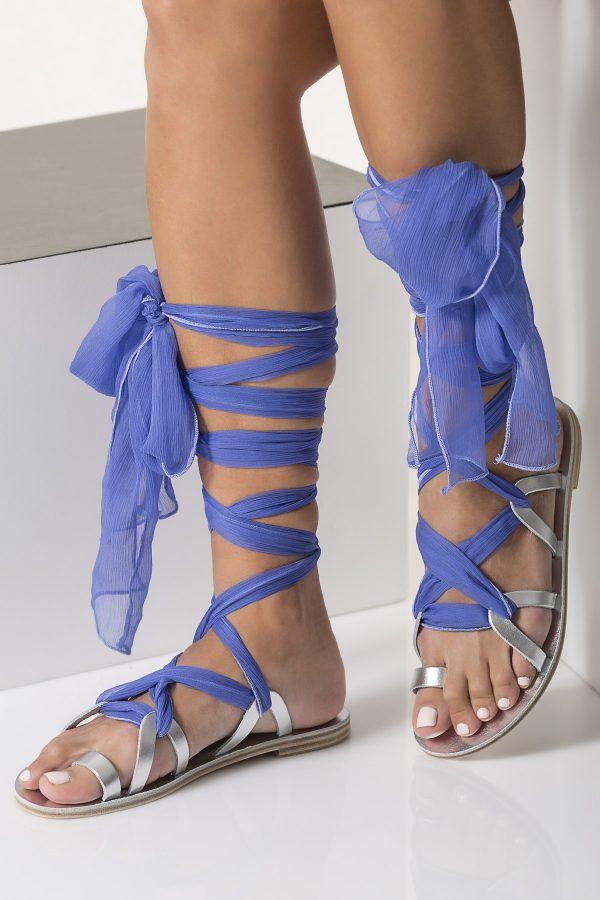 silver bridal sandals