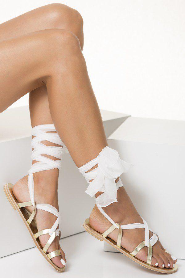 flat gold wedding sandals