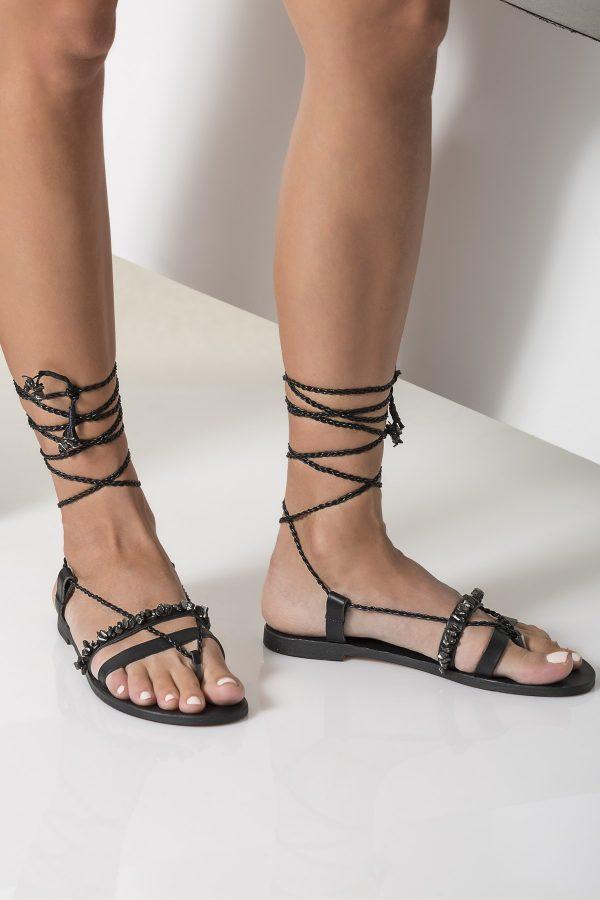womens black sandals