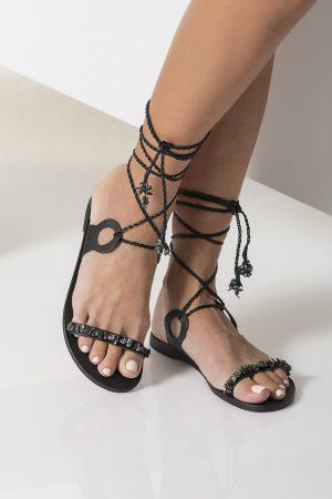 evening sandals black