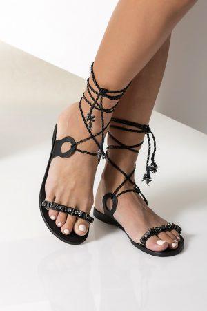 Women's Black Gladiator Sandals