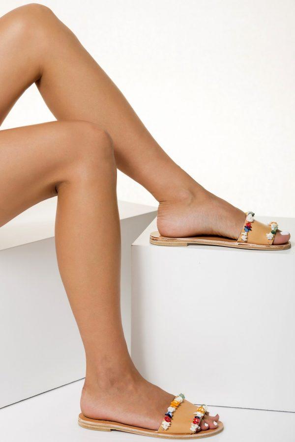 multicolored sandals