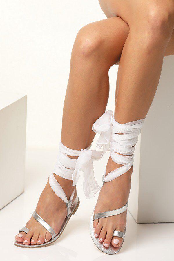 white bridal sandals