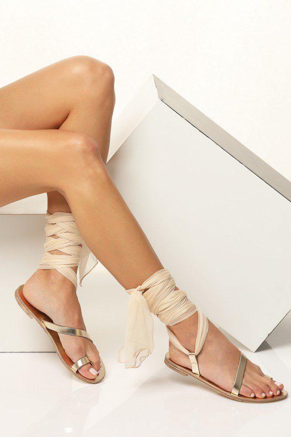 flat bridal sandals ivory