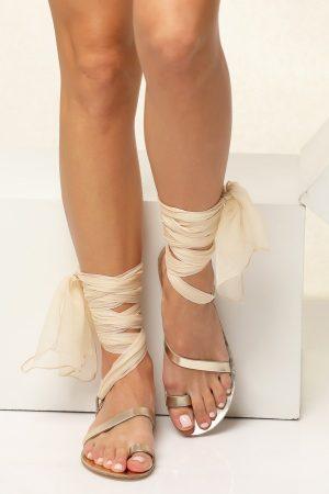 bridal flat sandals ivory