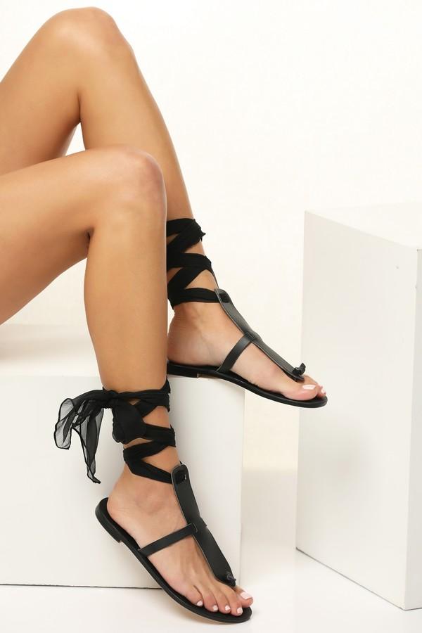 black evening sandals