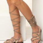 wedding sandals gold