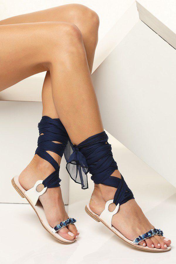 blue wedding sandals
