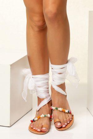 Wedding Lace up Sandals
