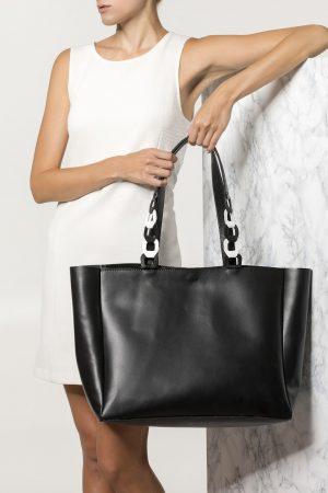 large handmade leather bag