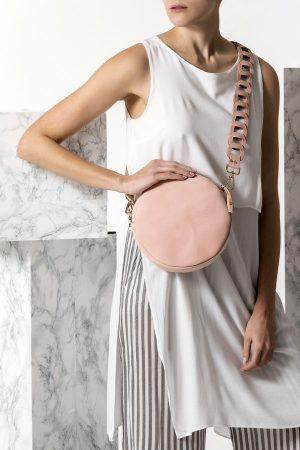 nude round bag