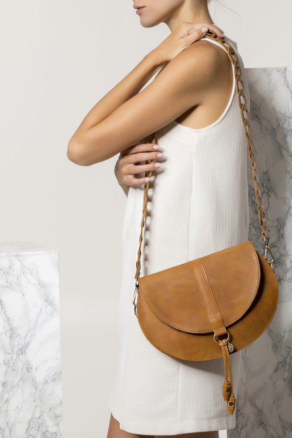 Brown Leather Saddle Bag