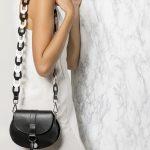 mini black leather bag