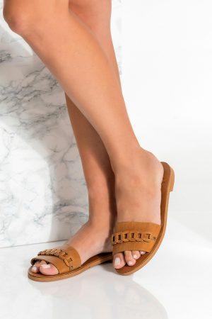 Leather Slip on Sandals
