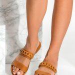 Slip on Sandals Brown