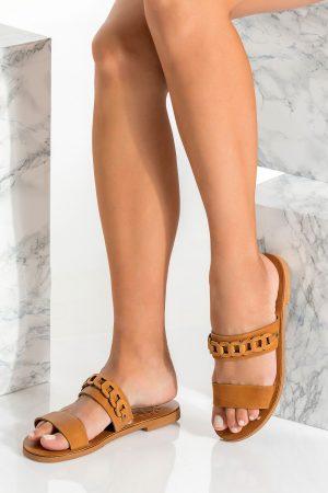 Brown Slide Sandals