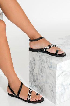 Black Ring Sandals Women