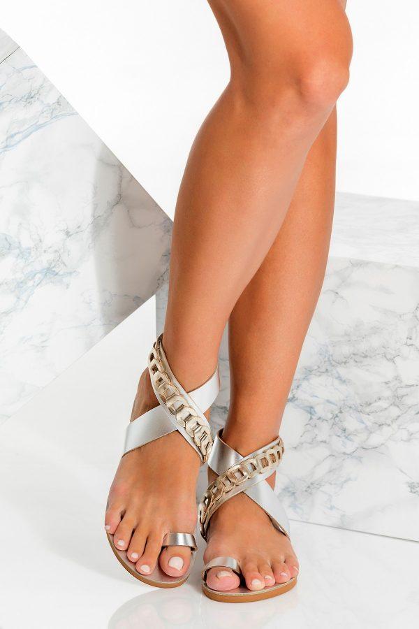 Μεταλλικά σανδάλια toe ring