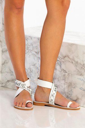 White Sandals Handmade