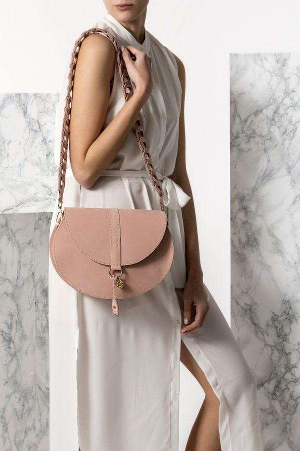 women pink bag