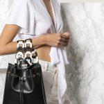 Μαύρο backpack από δέρμα