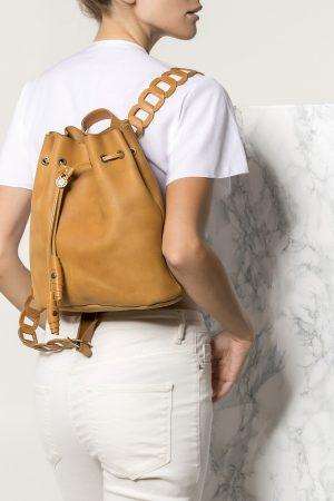 Δερμάτινη τσάντα πλάτης ταμπά