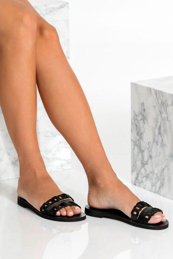 Black Slip on Summer Shoes