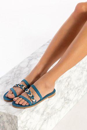 Blue Boho Sandals