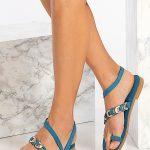 Blue Toe Ring Sandals