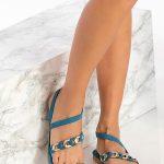 Ancient Greek Sandals Blue