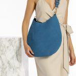 Δερμάτινη μπλε γυναικεία τσάντα