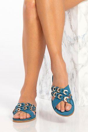 Blue Slide Sandals