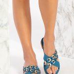 Boho Blue Sandals