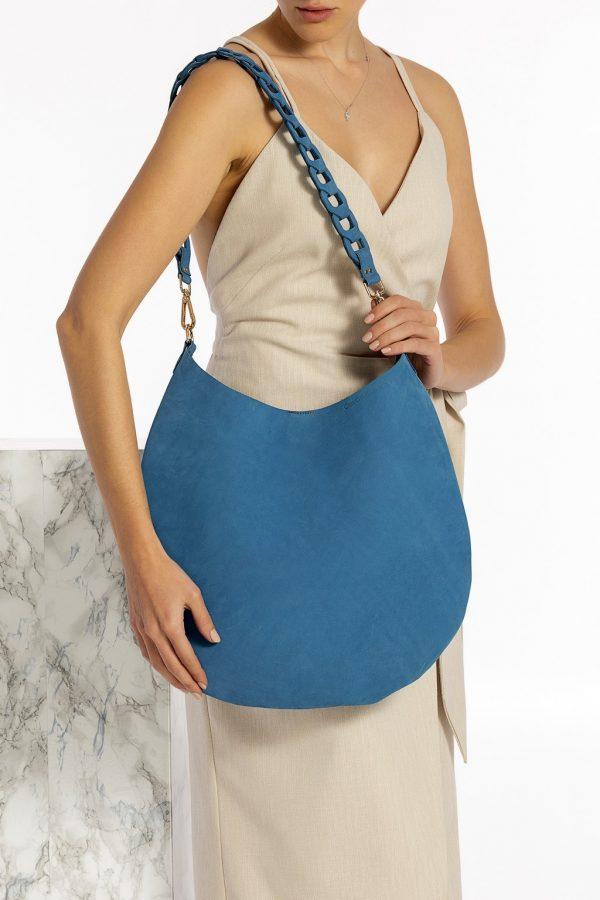 Τσάντα ώμου μπλε