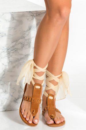 Brown Bohemian Sandals