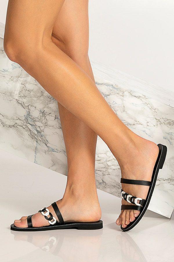 Flat Sandals Black