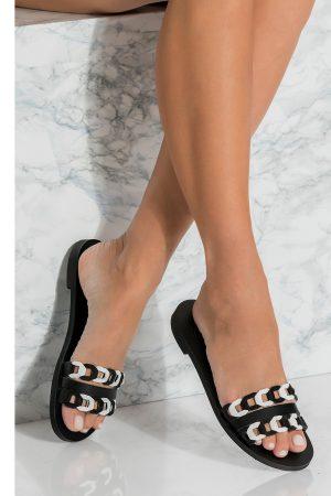 black open toe sandals