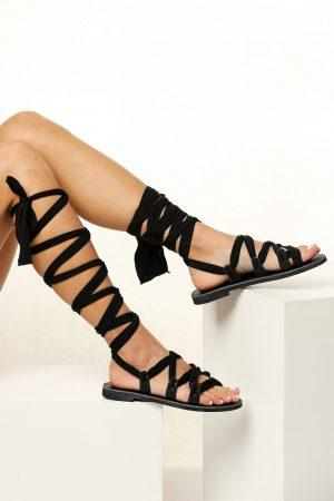 Μαύρα γυναικεία σανδάλια
