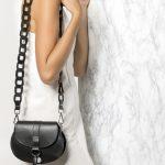 Boho chic leather bag