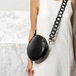 Μαύρη τσάντα στρογγυλή