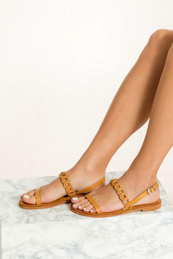Brown Summer Shoe Woman