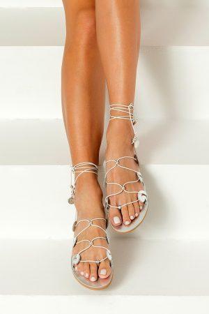 Greek Sandals Silver